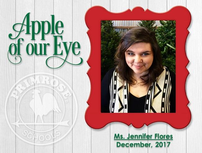 Ms. Jennifer, Apple of our Eye for December