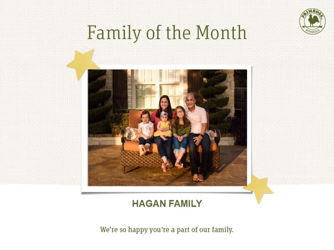Congratulations Hagan Family on being our June Family of the Month