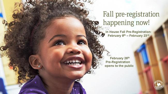 Fall Pre-Registration!