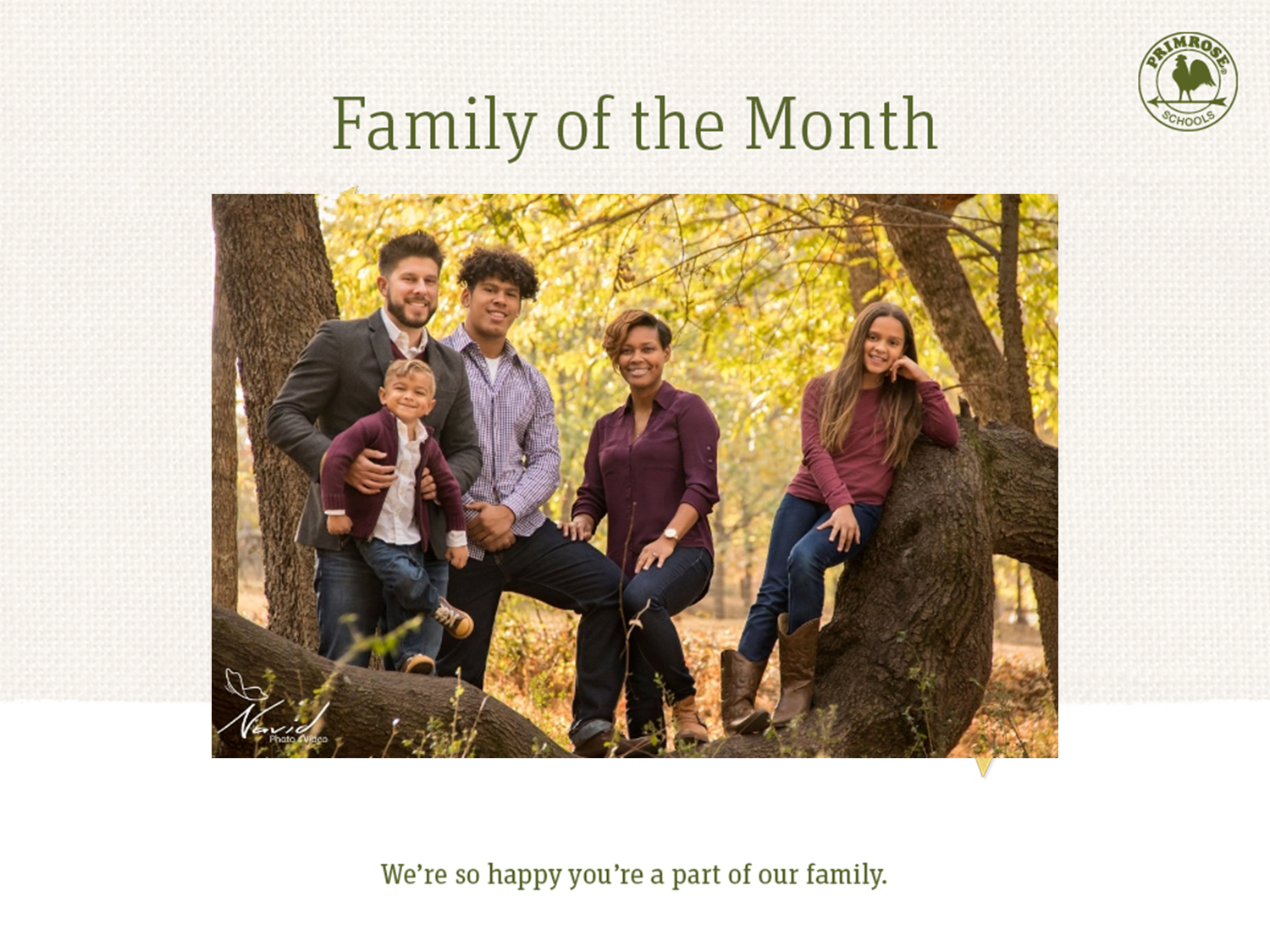 The Zambino family, family of the month for March