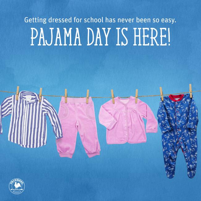 Pajamas on a clothes line