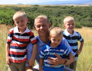 Primrose school of Ken Caryl owner, Stacey Alexander with his three young sons
