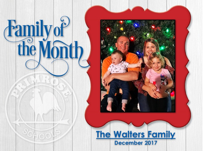 Family of the Month - December 2017 - Walters