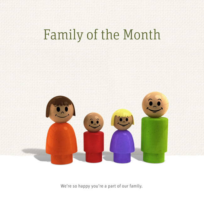 Family of the month poster
