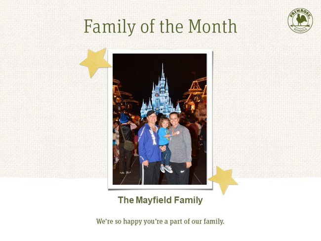 Congratulations Mayfield Family on being our August family of the month!
