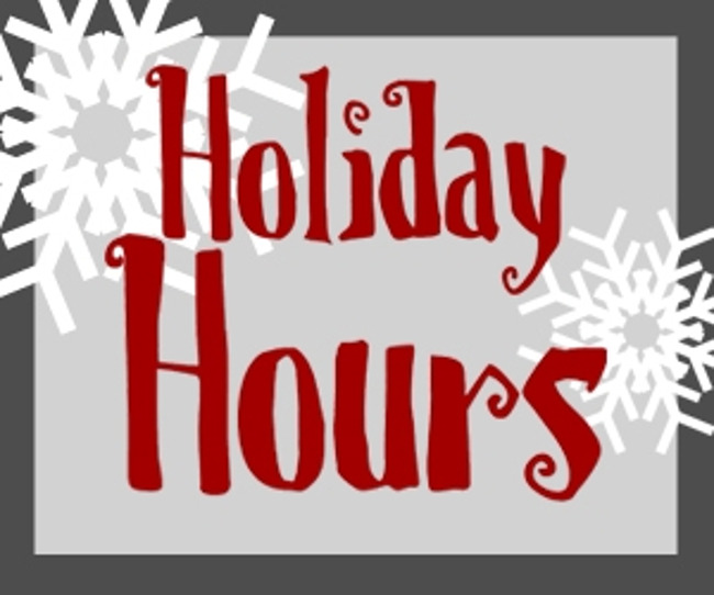 Holiday hours poster