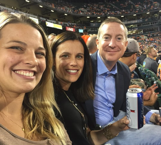 Rebecca from PlanPlus, Dianne Duva from Arlington Partners, Scott Huff of YoureFolio enjoying the Orioles - Rays game at Camden Yards