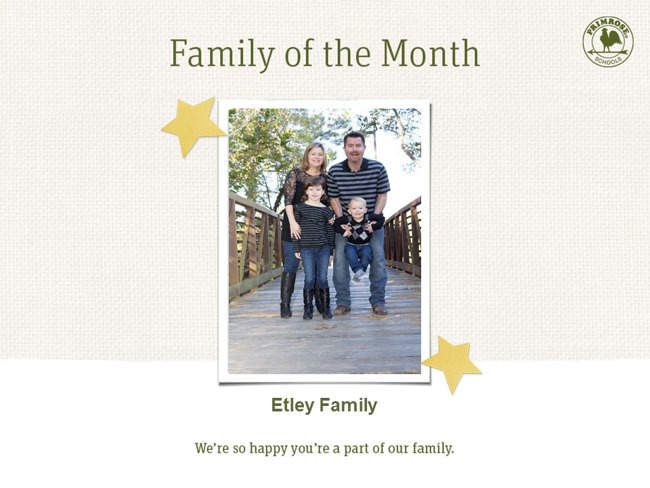 Congratulations Etley Family on being our June Family of the Month!