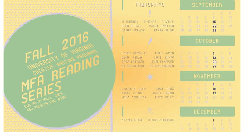 MFA Reading Series: Sasha Prevost, Ethan Feuer