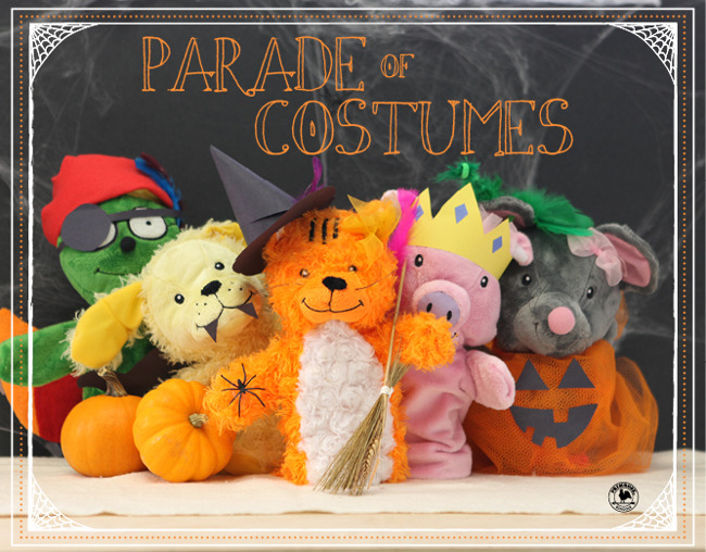 primrose puppets in costumes