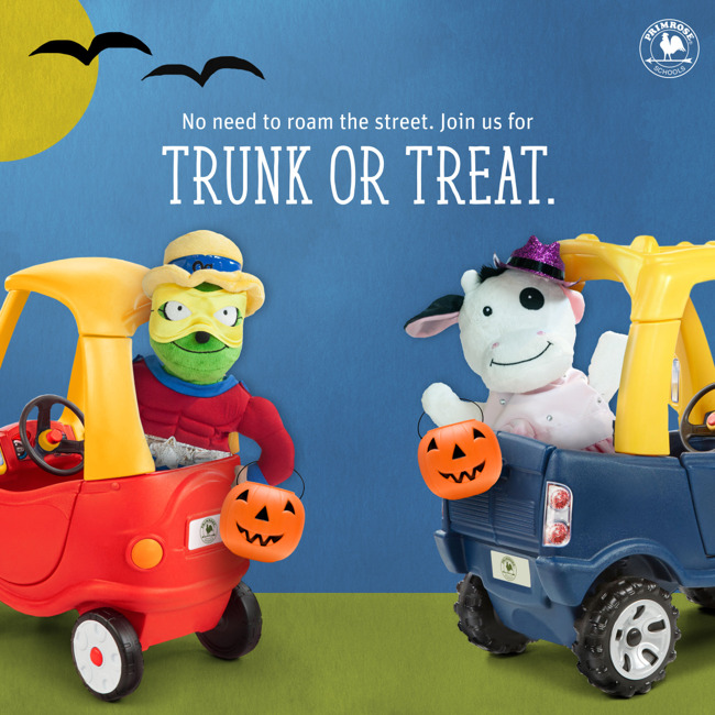 Please join us for our first annual Trunk or Treat