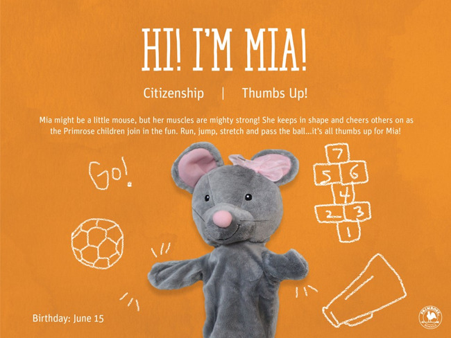 happy birthday mia the mouse citizenship thumbs up primrose schools