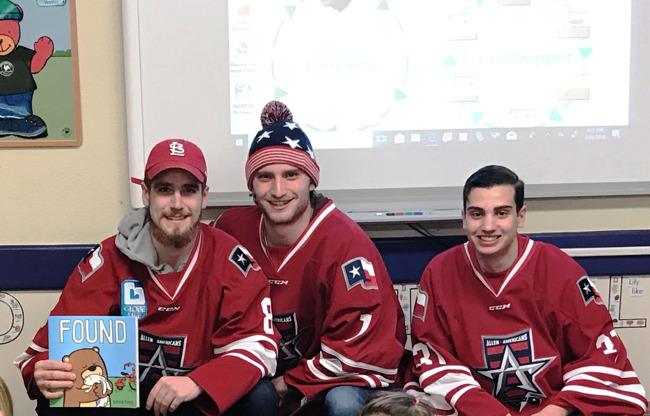 Allen Americans Celebrate Read Across America week at Primrose East Allen