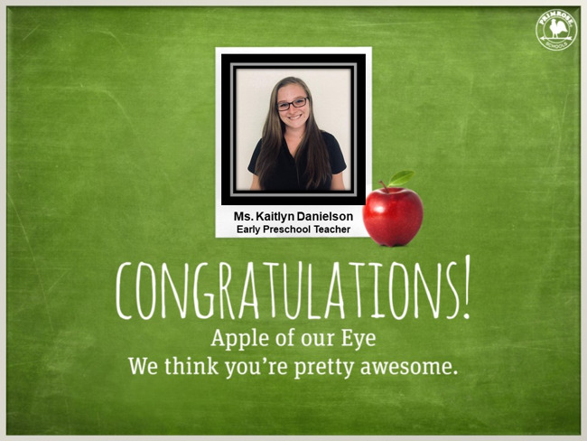 dedication teacher early preschool preston meadow primrose schools glasses black shirt happy
