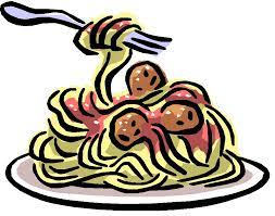 Plate of spaghetti with a fork twirling the noodles