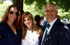 Franchise Owners of Primrose School Leighanne and Stephen Chilmaid with their daughter