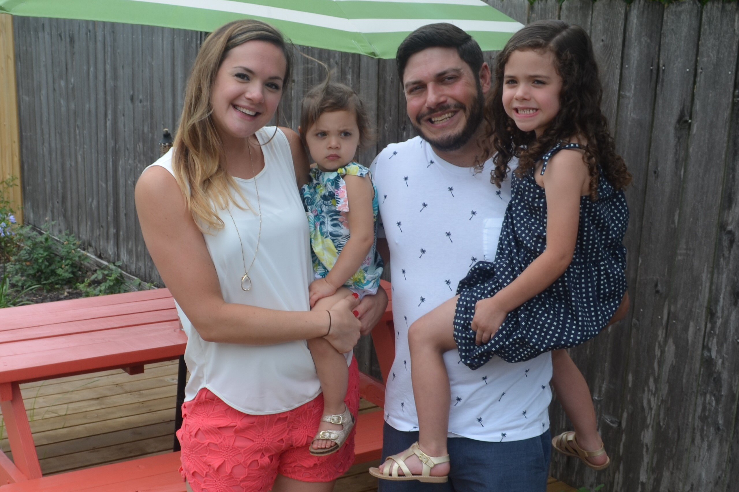 The Carney family, family of the month for June