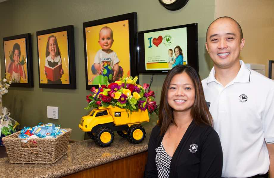 Franchise Owners of Primrose School Mary Nguyen and Chris Hoang