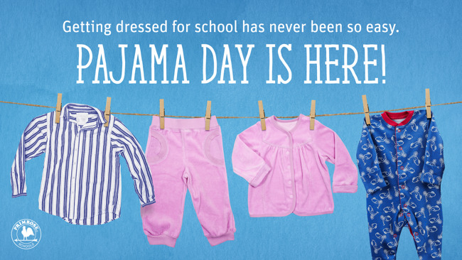 Pajamas on Blue