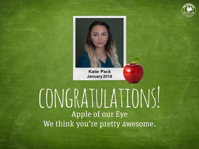 katie pack january apple of eye