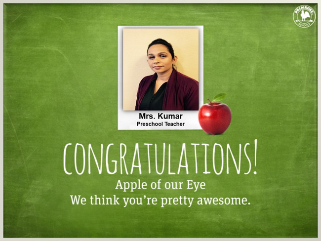 primrose schools apple of our eye purple sweater teacher dedication