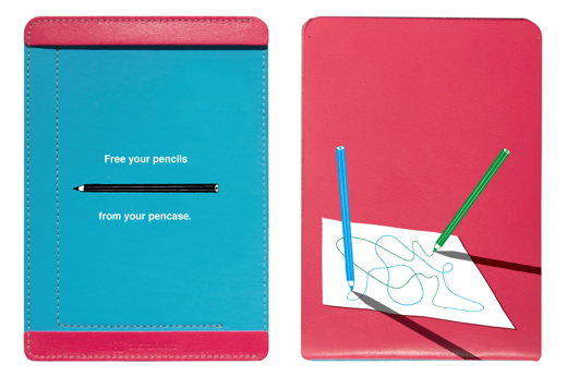 Free your pencils from your pencase.