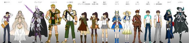 電子書籍『わたしの勇者さま』シリーズ表紙用キャラクターデザイン