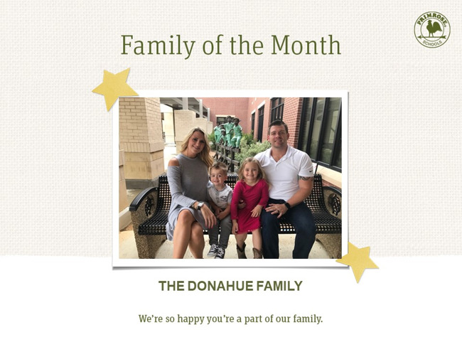 Congratulations on being our January Family of the Month