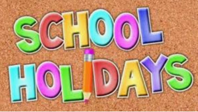 school holiday sign
