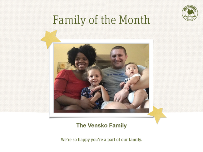 family of month - march