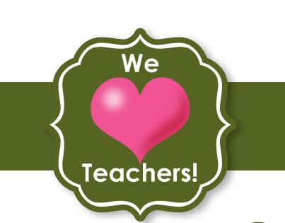We love teachers poster