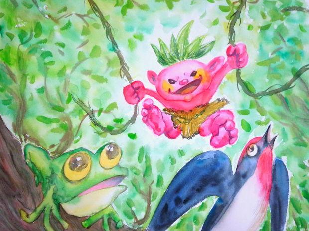 カエルとツバメとキジムナー!