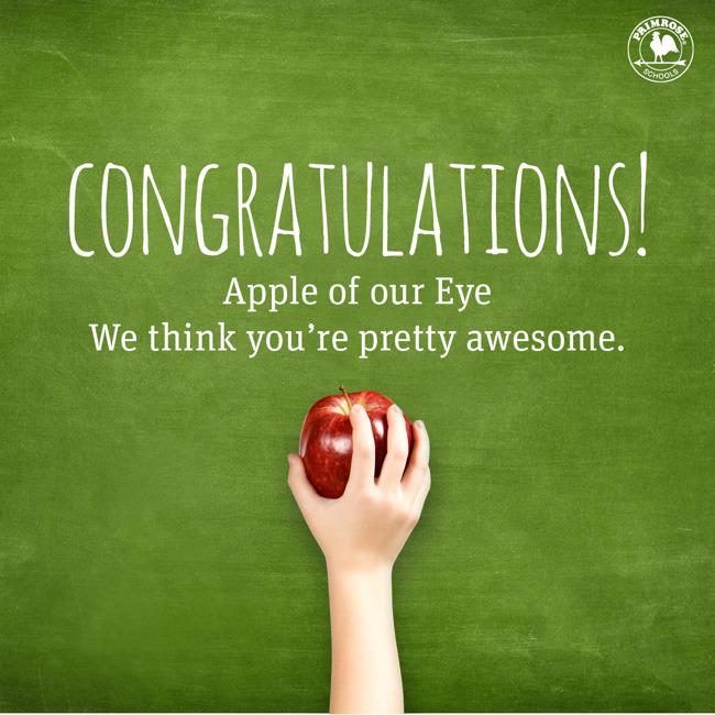 Congratulations to Ms. Tracie!