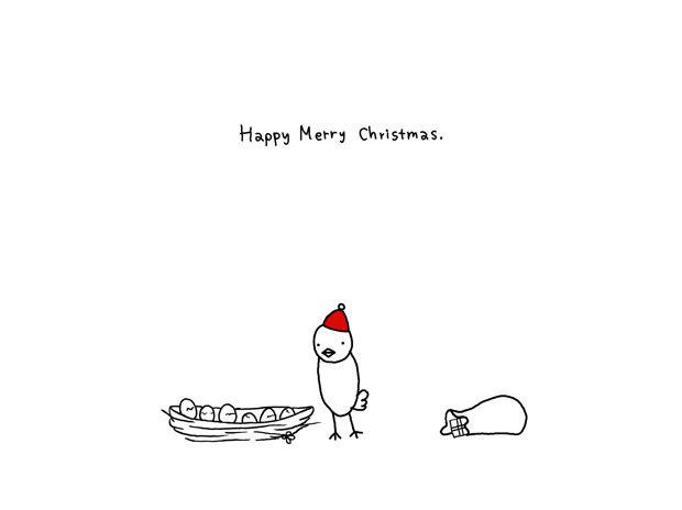 ひよこのクリスマスカード プレゼント