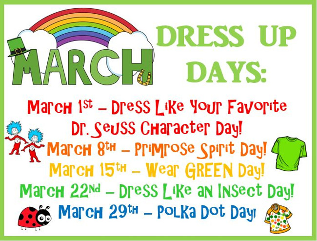 March Dress Up Days