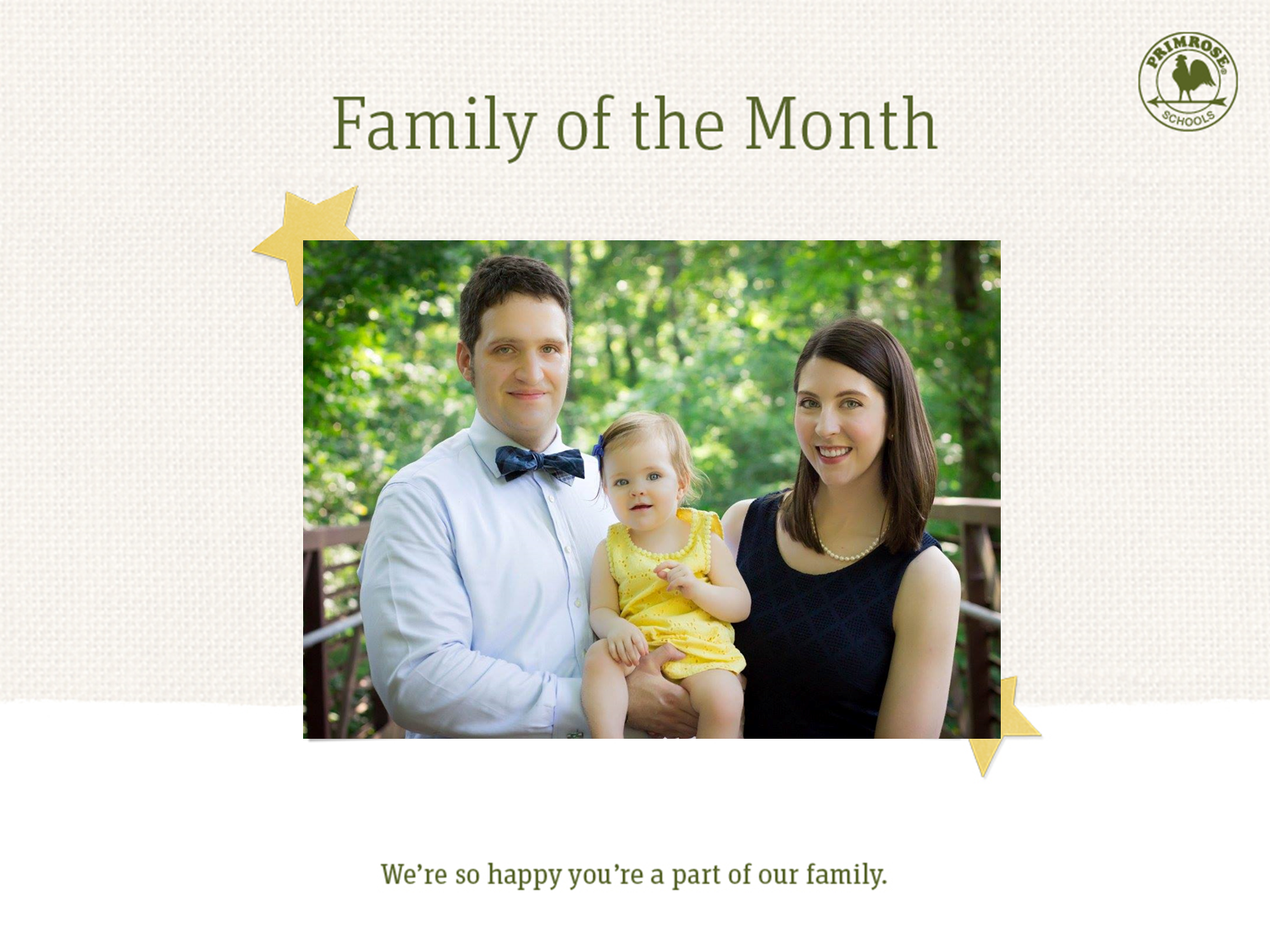 The DeNeve family, family of the month