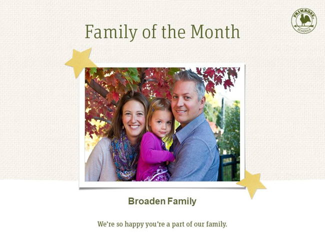 Broaden Family is the family of the month in October!
