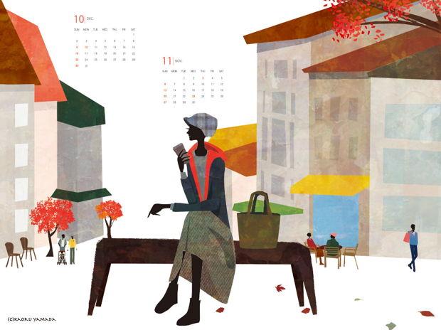 2016年10-11月カレンダー