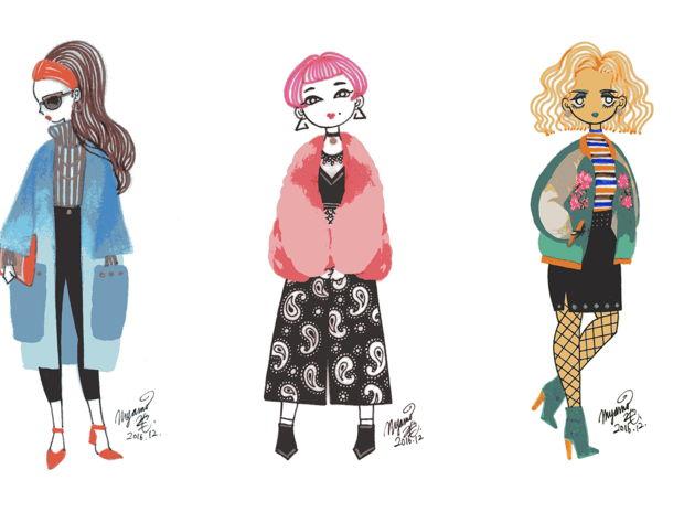 Three A/W Fashions Doodle