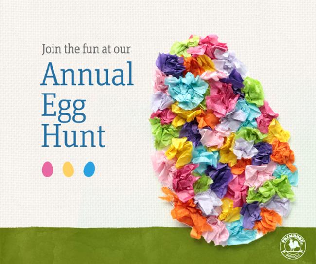 Annual Easter egg hunt poster