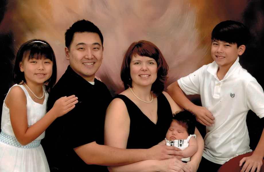 Franchise Owners of Primrose School Jennifer and Dan Fu with their family