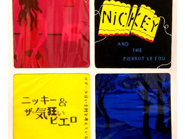 """ニッキー&ザ・気狂いピエロ """"ゴダールは今何を考えているか""""/個展【R'n'R(ロックのレコード)】作品"""