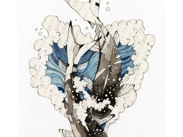 鷲崎健著「成すも成さぬもないのだが」第三回 挿絵02 「LOVE FISH」