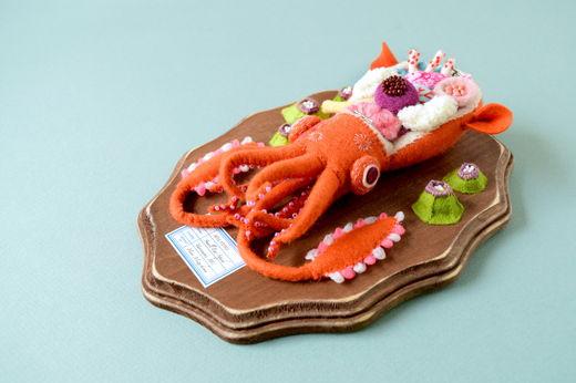 小耳イカの解剖模型