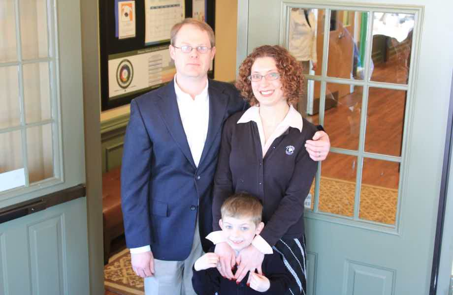 Franchise Owners of Primrose School Lisa and Benjamin Adams with their son