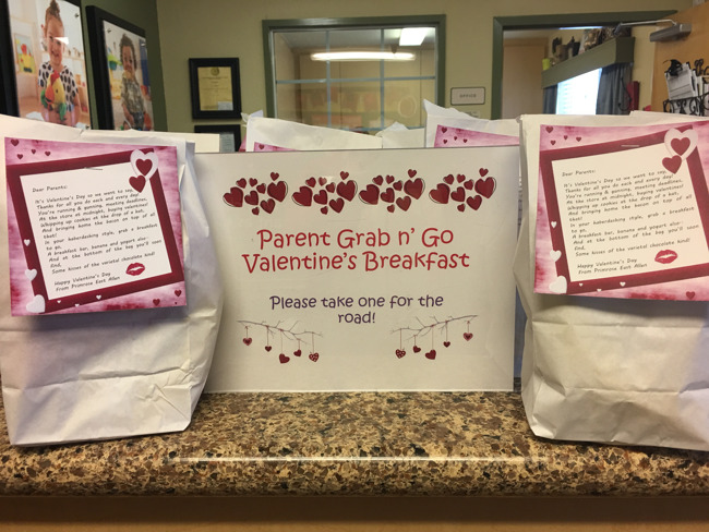 Valentine's Day Grab 'n Go Breakfast for Parents