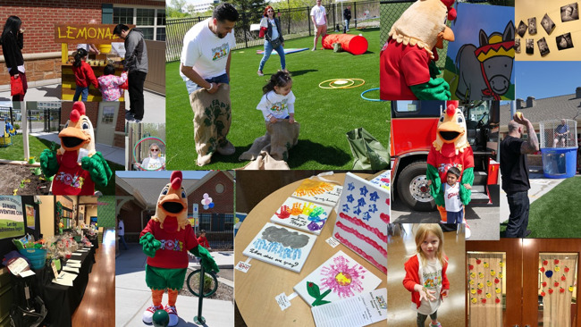 Collage of images from the Spring fling which was a huge success