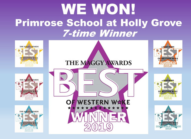 Seven prestigious Maggy Awards for Best Preschool in Western Wake