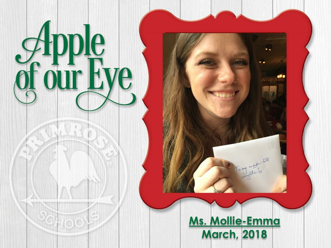March's Apple of Our Eye, Ms. Mollie-Emma