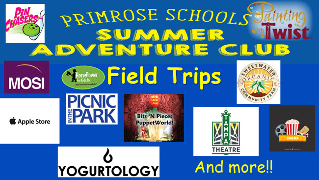 Explorers Summer Field Trips!
